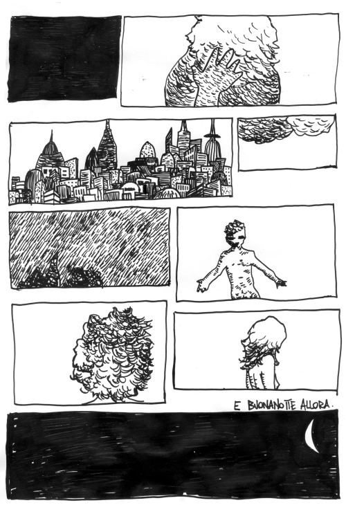 Il Buio, disegno di Francesco Farabegoli
